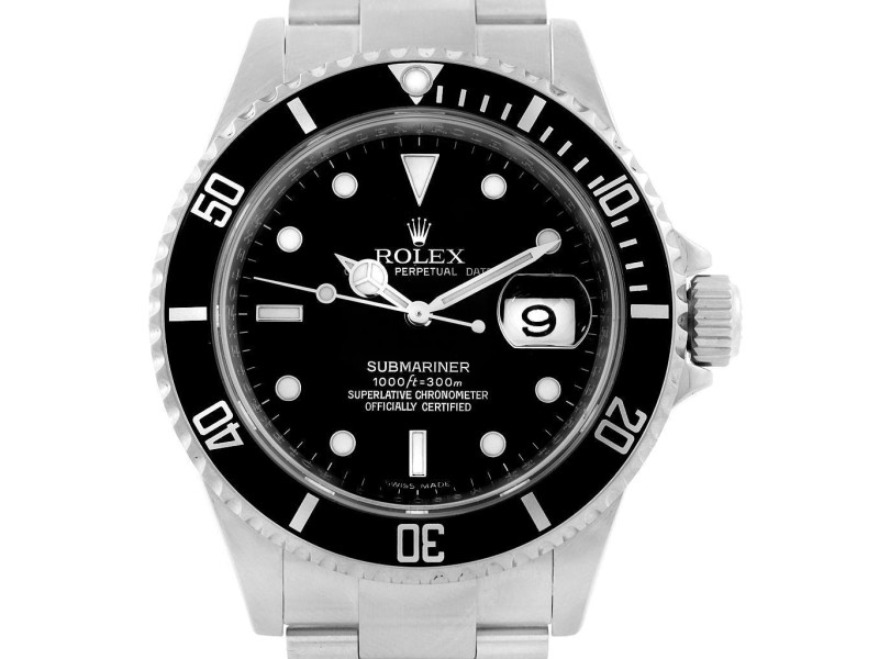 Rolex 16610 Submariner Stainless Steel Date Watch