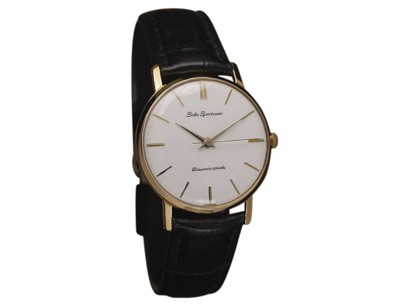 Seiko Sportsman Gold Plated Manual Mens 35mm Watch 1960s