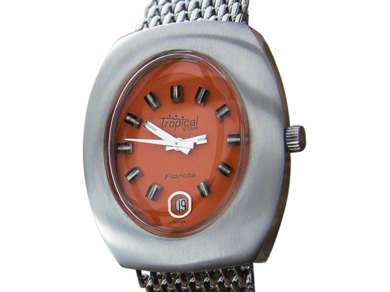 Tropical Star Florida L91 Stainless Steel Automatic Vintage 36mm Mens Watch
