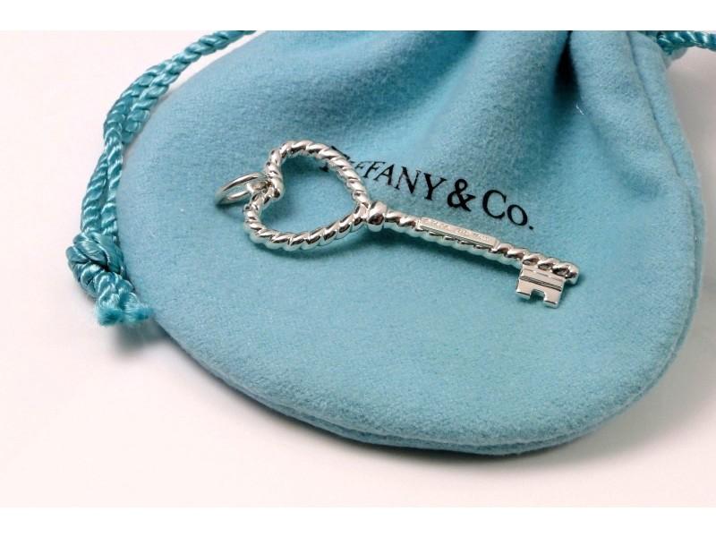 07917bd82 Tiffany & Co. 925 Sterling Silver Heart Twist Key Pendant   Tiffany ...