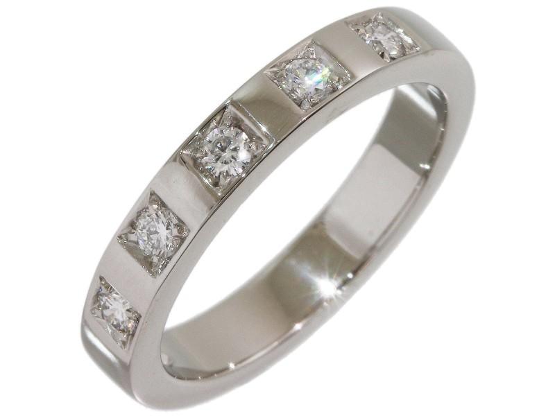 Bulgari Platinum Diamond Wedding Ring Size 4.75