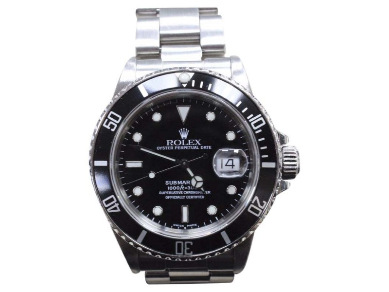 Rolex Submariner 16800 Vintage 40mm Mens Watch