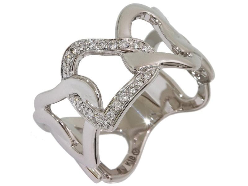 18K White Gold Diamond Ring Size 6.75