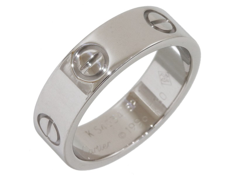 Cartier Love 18K White Gold Ring Size 6