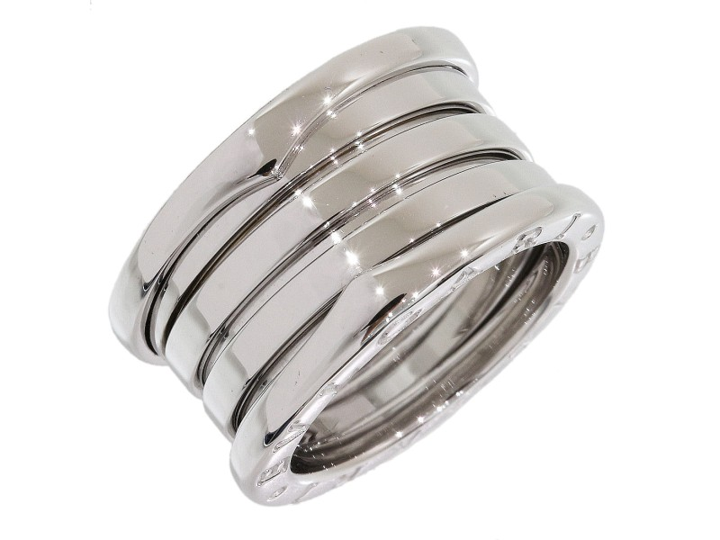 Bulgari Bvlgari 18K White Gold Ring Size 4.75