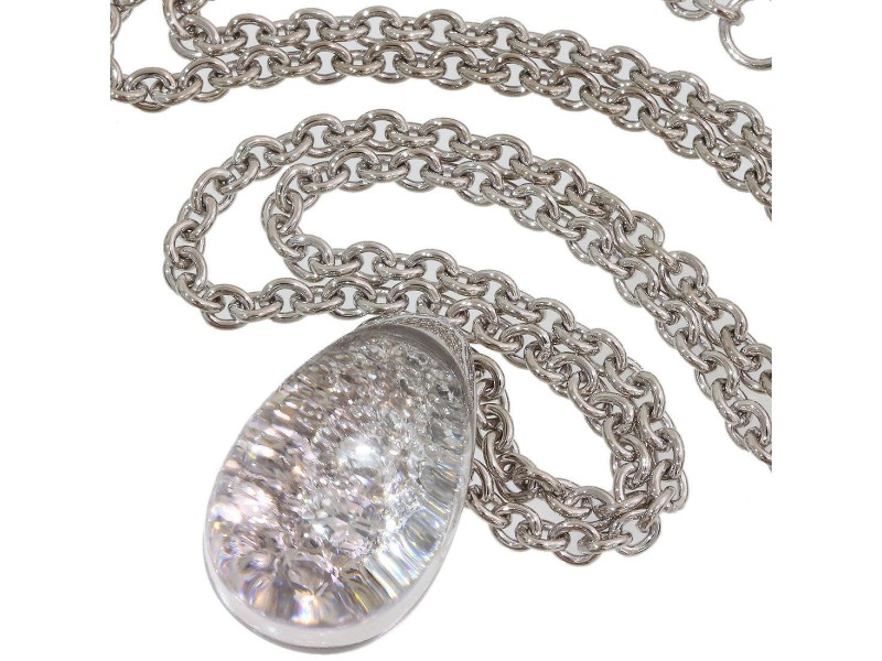 Cartier 18K White Gold Diamond Necklace