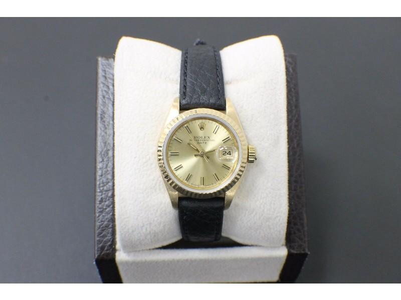 Rolex Ladies Date 69178 18K Yellow Gold
