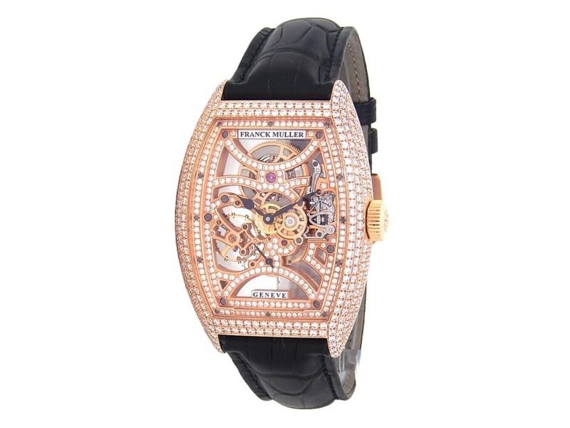Franck Muller Cintree Curvex 18k Rose Gold Manual Wind Watch 8880 B S6 SQTDMVT D