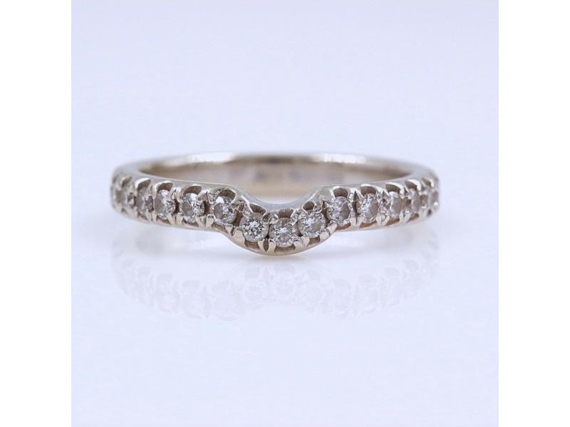 Neil Lane Curved Diamond Wedding Band Ring 14k White Gold 1/2 tcw
