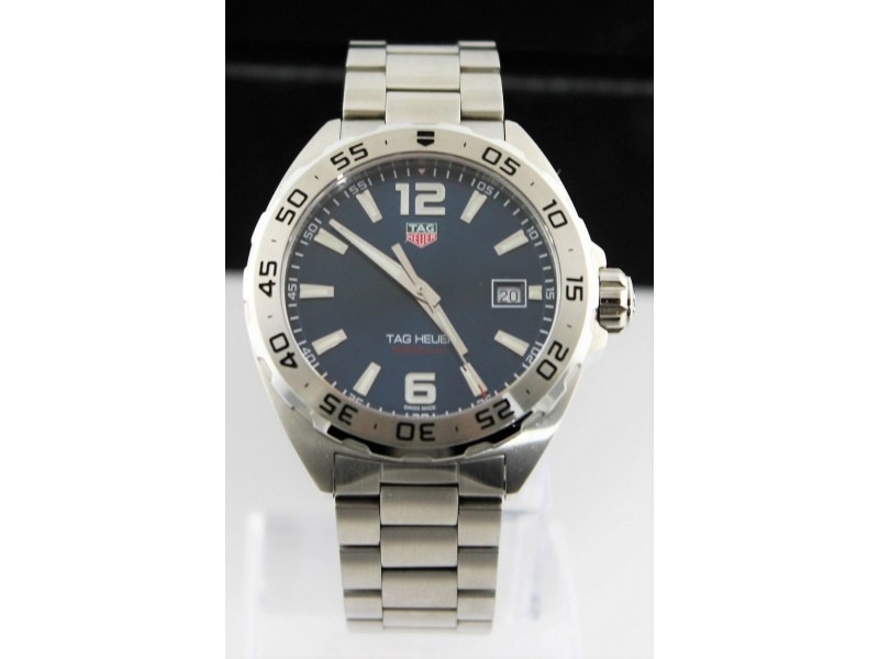 ORIGINAL TAG HEUER FORMULA 1 WAZ1118 BA0875 DATE QUARTZ GENTS BLUE STEEL  WATCH