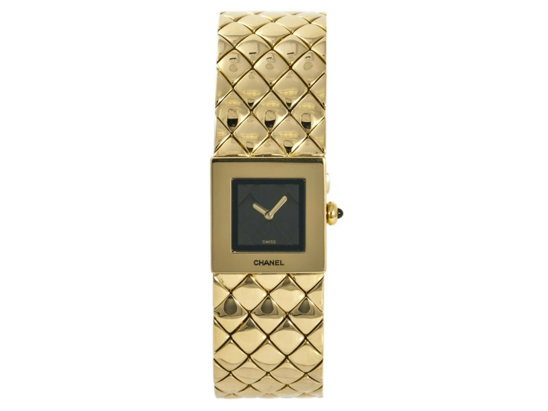 Chanel Matelasse CHA01-02 Gold 29mm Womens Watch