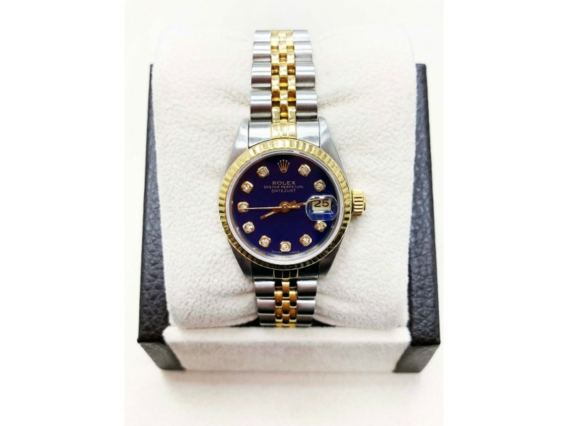 Rolex Ladies Datejust 69163 Diamond Dial 18K Yellow Gold & Stainless Steel