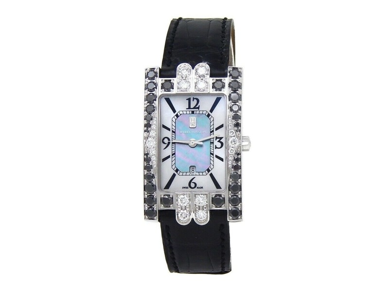 Harry Winston Lady's Avenue Classic 18k White Gold Quartz Ladies Watch 310UQW