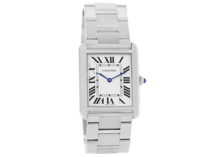 Cartier Tank Solo W5200014 Steel 28mm  Watch (Certified Authentic & Warranty)