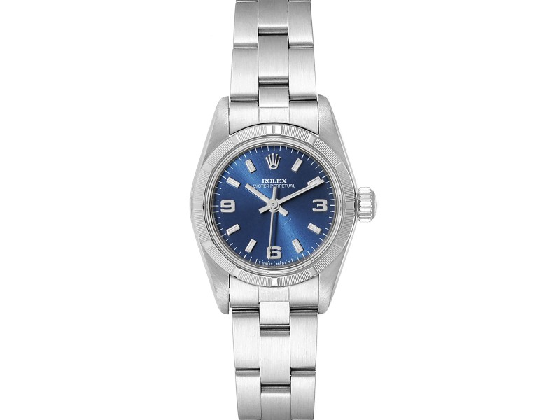 Rolex Oyster Perpetual Blue Dial Oyster Bracelet Ladies Watch 67230