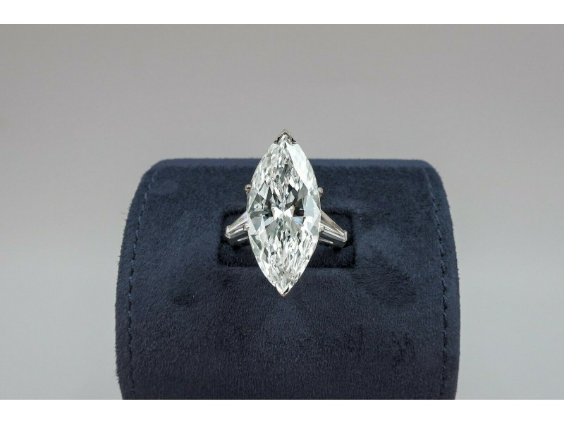 The Precious GIA Certified Engagement Ring with Huge 10.08ct. Marquise Diamond