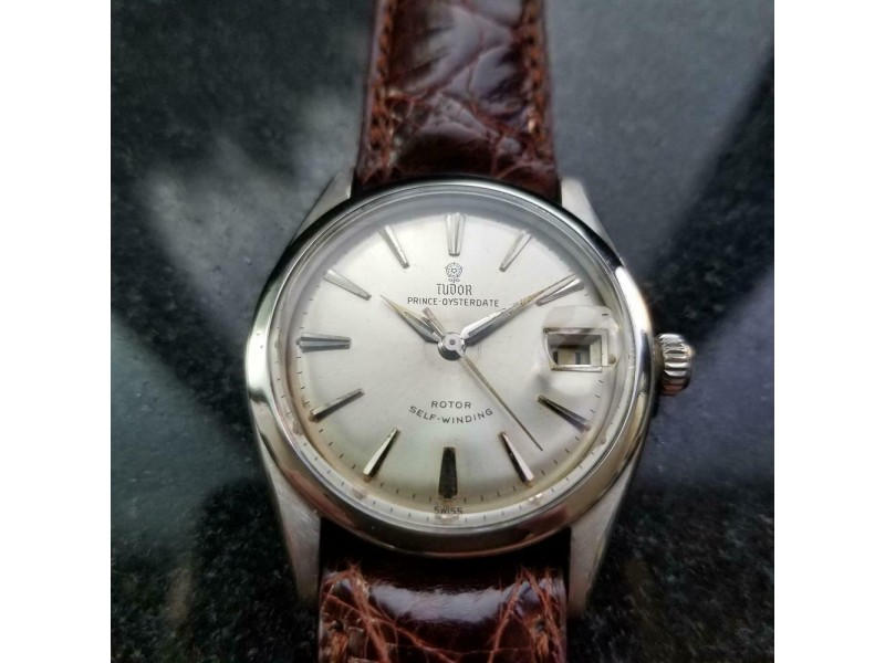 """TUDOR Men's Prince Oysterdate 7966 """"Small Rose"""" Automatic c.1950s Swiss MS119BRN"""