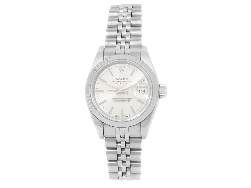 Rolex Datejust Stainless Steel Jubilee Automatic Silver Ladies Watch 69174