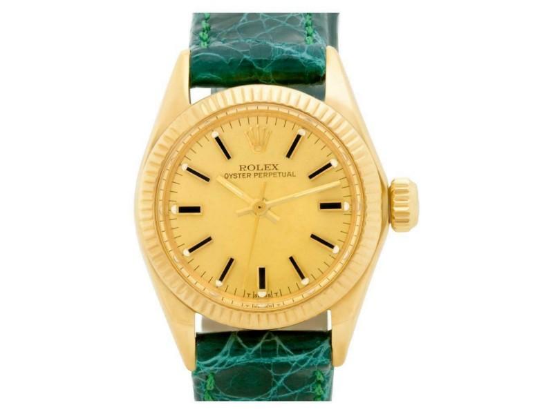 Rolex Oyster Perpetual 6719 Gold 0.0mm Women's Watch