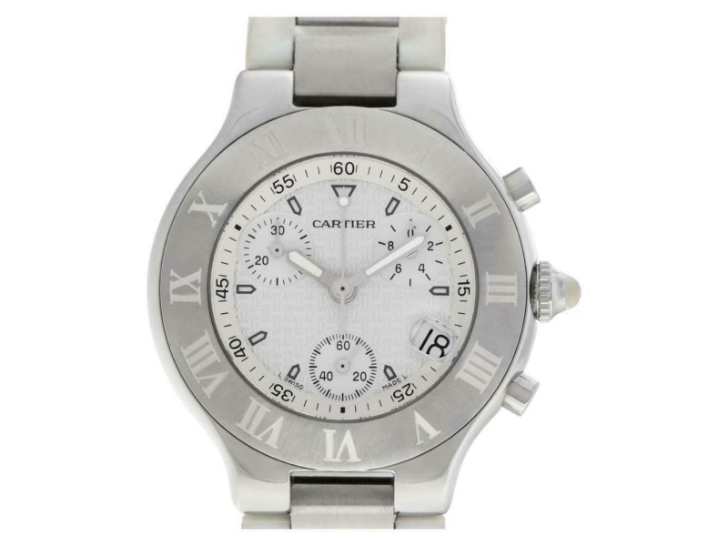 Cartier Must 21 W10184U2 Steel 38.0mm  Watch