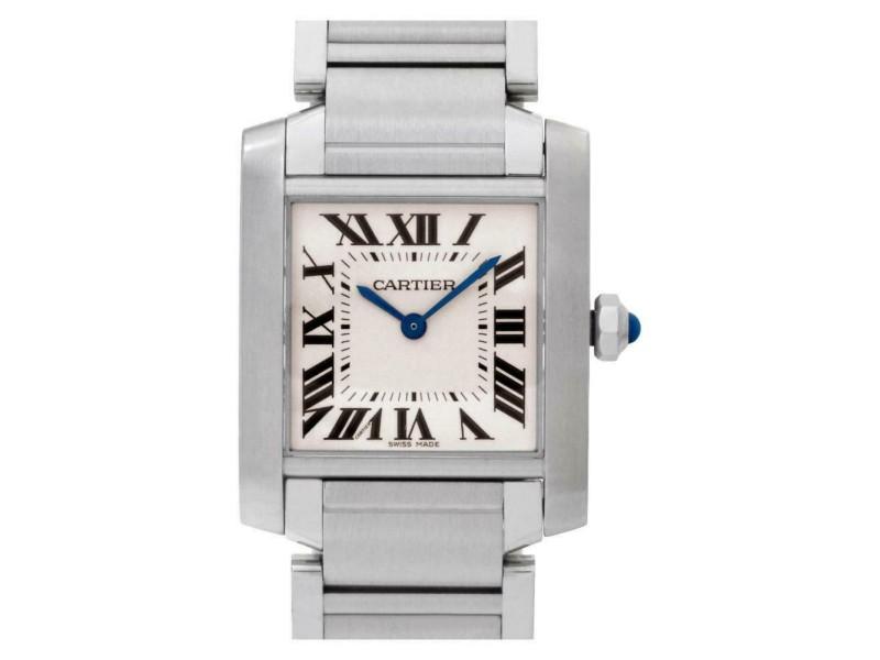 Cartier Tank Francaise W51011Q3 Steel 30.0mm Women's Watch