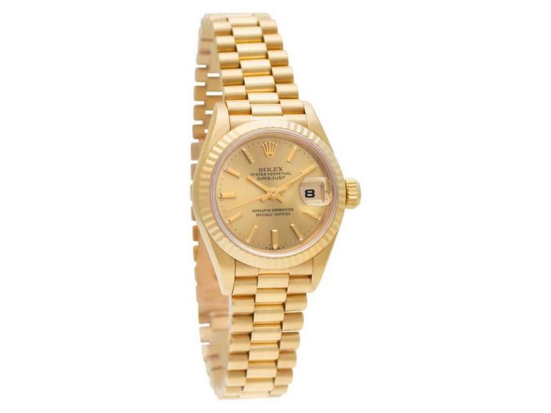 Rolex Datejust 69178 Gold 26.0mm Women's Watch