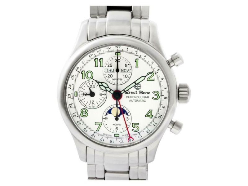 Ernst Benz Chronolunar GC20312B Steel 40.0mm  Watch