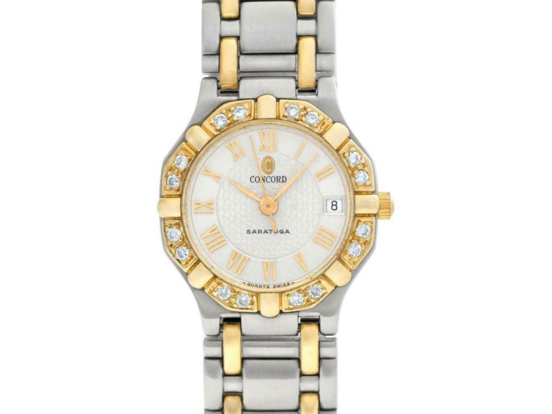 Concord Saratoga 15 73 28 Gold 23.0mm Women's Watch