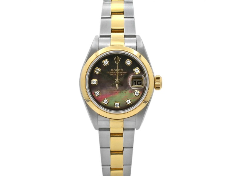 Rolex Datejust 26, 18k Yellow Gold, Steel, Mother-of-Pearl Diamond Dial, 79163