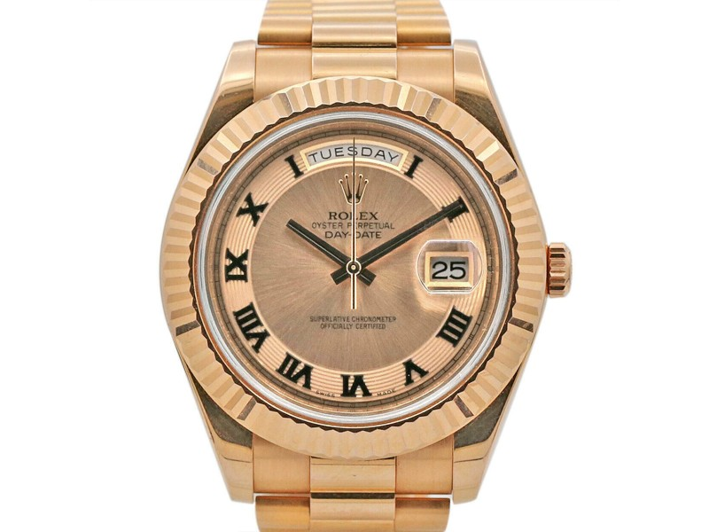 Men's Rolex Day-Date II Presidential 41, Rose Gold, Pink Champagne Dial, 218235