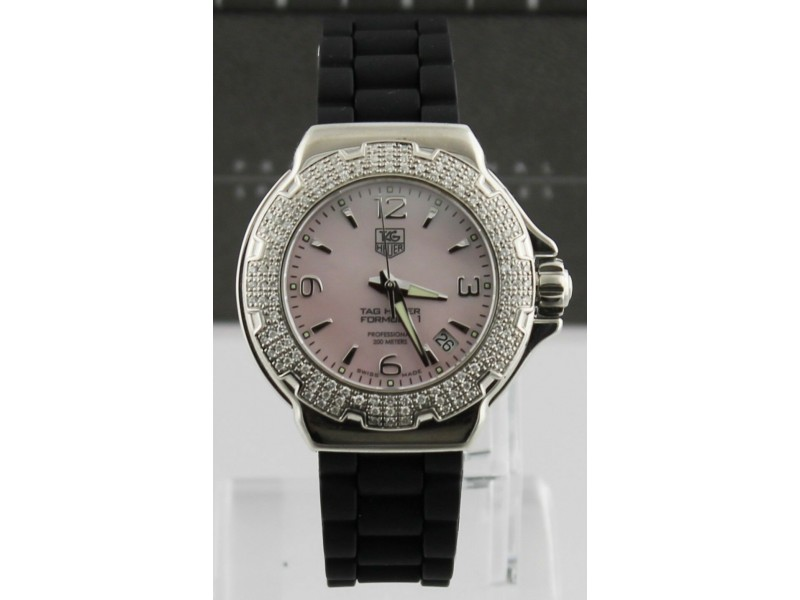 TAG HEUER WOMEN'S FORMULA 1  WAC1216.BT0711 PINK PEARL DIAMOND WATCH BUY IT NOW