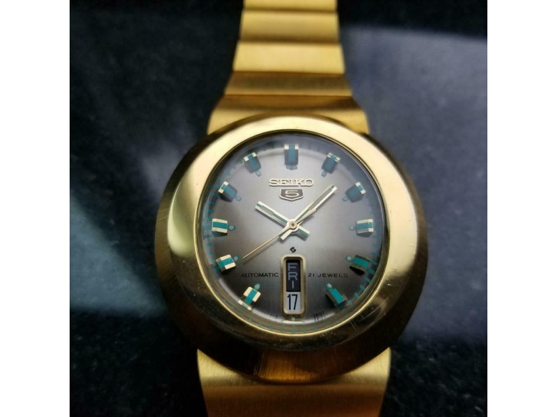 Mens Seiko 5 Ref.6119-5450 38mm Gold-Plated Automatic, c.1970s Vintage LA69