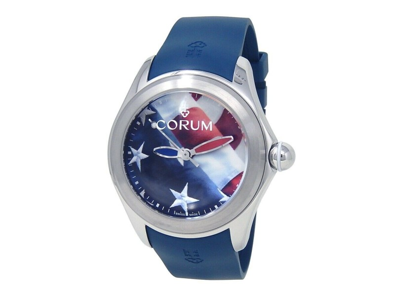 Corum Bubble 47 US Flag Stainless Steel Automatic Men's Watch