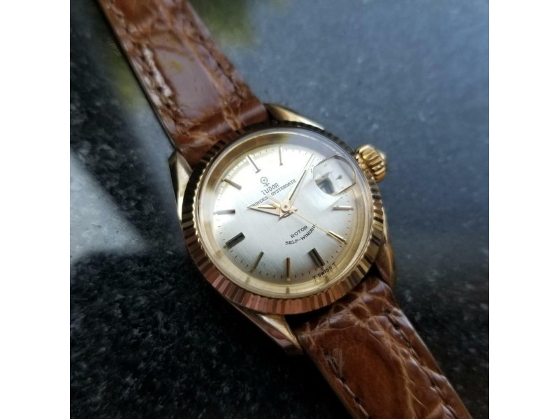 Ladies Tudor Princess Oysterdate Ref.7982 25mm 18k Gold Automatic, c.1960s MS195