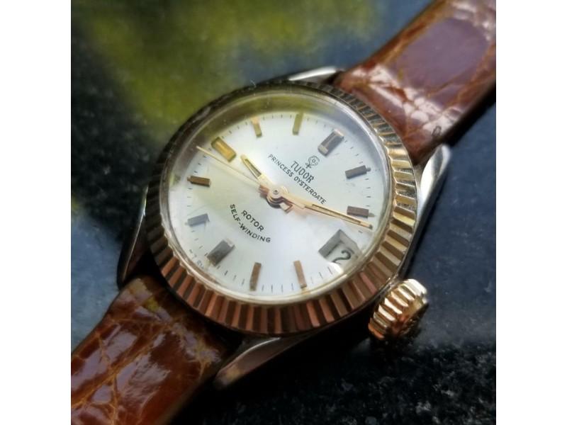 Ladies Tudor Princess Oysterdate 7594/4 22mm 14k Gold ss Automatic c.1960s MS197