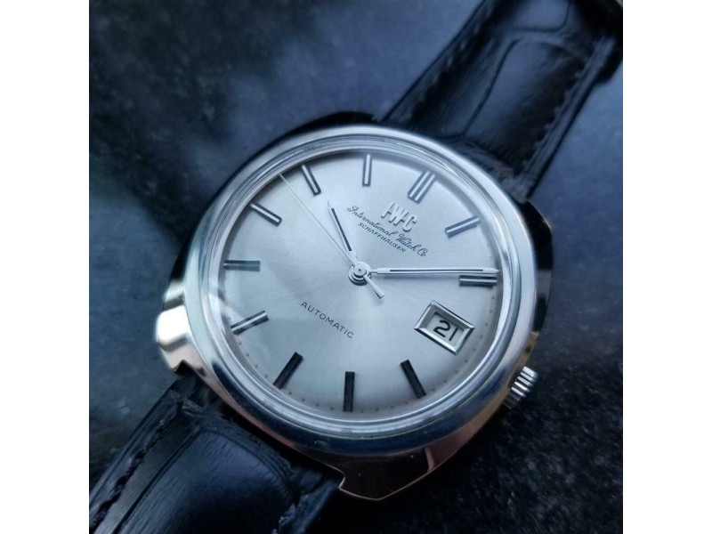 Mens IWC Schaffhausen 36mm Date Automatic Dress Watch, c.1970s Swiss NS22