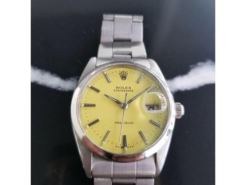 Mens Rolex Oysterdate Precision Ref.6694 34mm Hand-Wind, c.1960s Vintage RA108