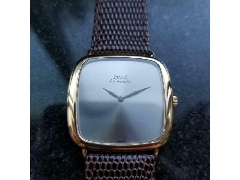 Mens Piaget 32mm 18k Gold cal.12PC1 Automatic 1970s Thin dress watch Swiss LV862