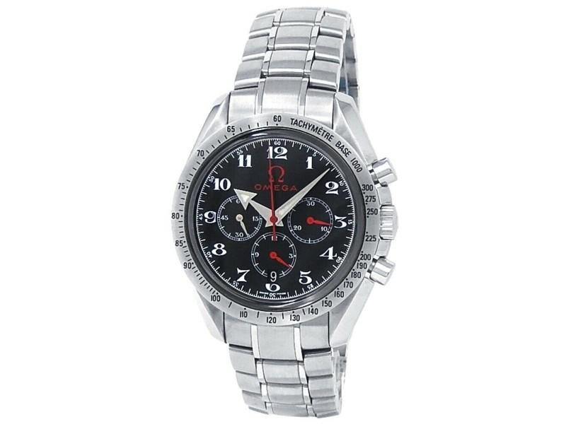 Omega Speedmaster Broad Arrow Stainless Steel Auto Black Men's Watch