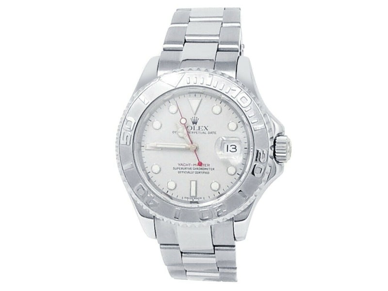 Rolex Yacht-Master Stainless Steel Oyster Automatic Platinum Men's Watch