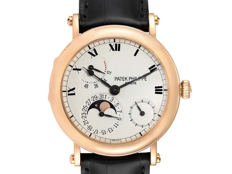 Patek Philippe Complications Power Reserve Moonphase Yellow Gold Watch 5054