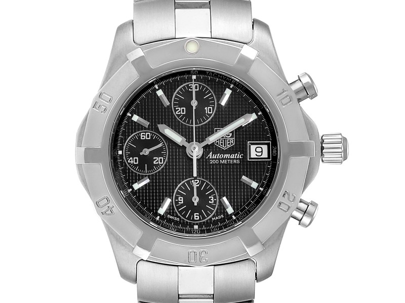 Tag Heuer Exclusive Black Dial Chronograph Steel Mens Watch CN2111