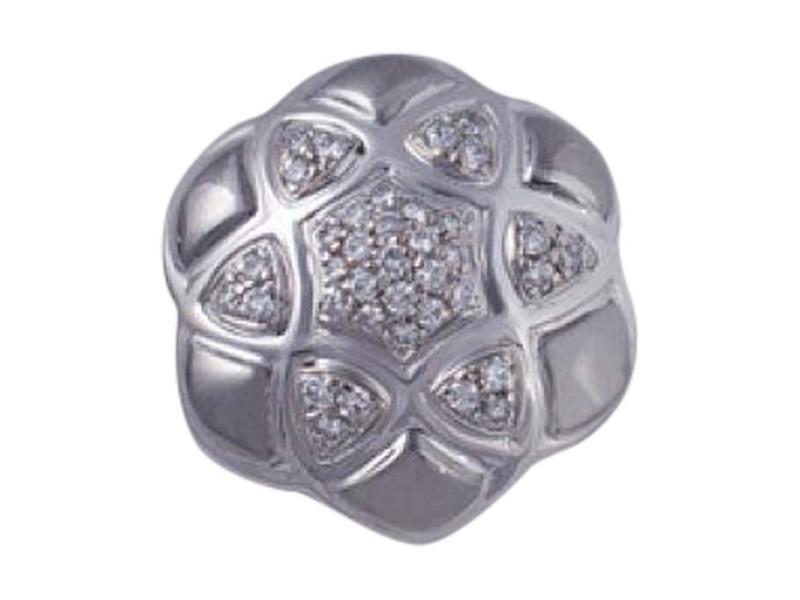 Salavetti Leva 18K White Gold Diamond Floral Star Pendant