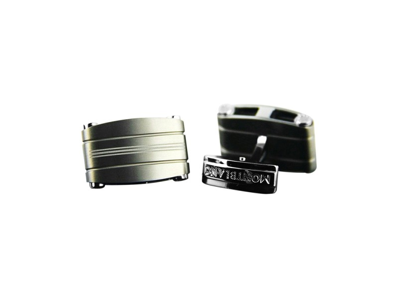 Montblanc Stainless Steel & Titanium Rectangular Cufflinks