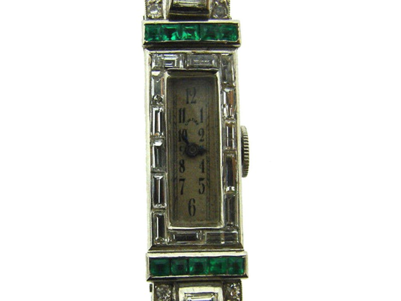 Cartier Art Deco Antique Diamond and Platinum Watch