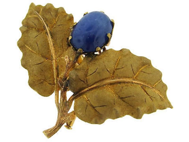 Lovely Mario Buccellati Sapphire & Yellow  Gold Pin