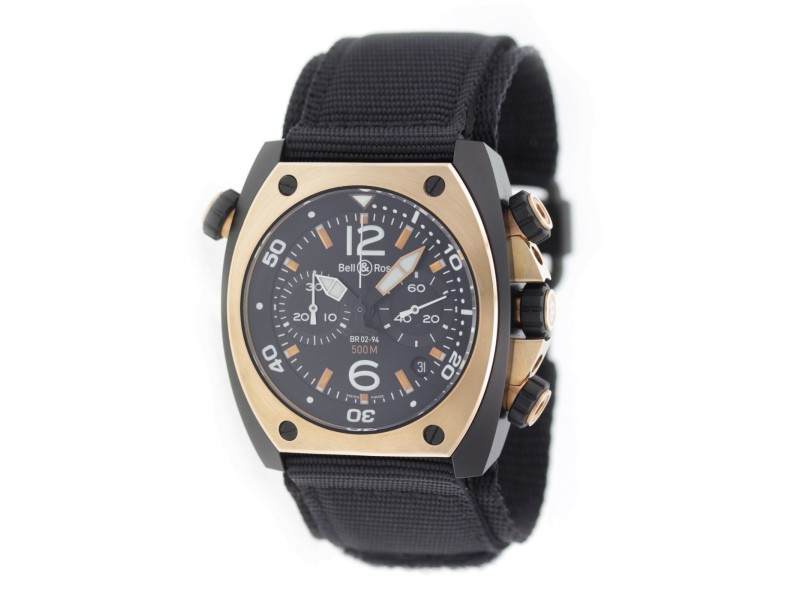 Bell & Ross Marine 94 BR02-CHR-BICOLOR 44mm Mens Watch