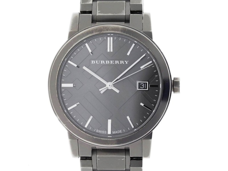 Burberry Gunmetal BU9007 38mm Mens Watch