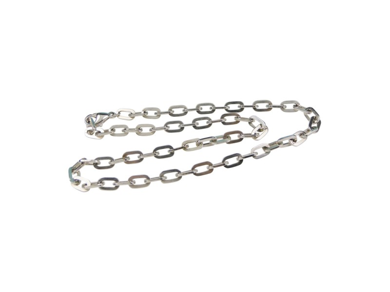 Tiffany & Co. Sterling Silver Heavy Flat Link Chain Necklace