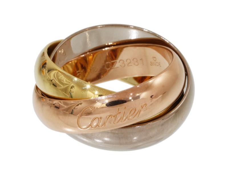Cartier Trinity de Cartier 18K Tricolor Band Ring Size 6.25
